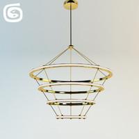 3d model halo chandelier