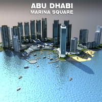 3d model square abu dhabi