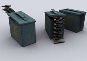 ammunition box 3d max