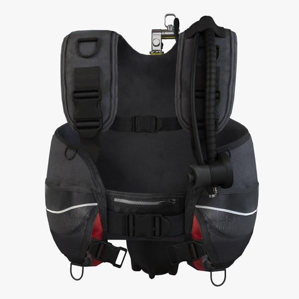 3d scuba bcd model