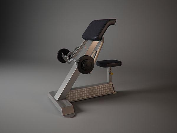 f205 freemotion fitness 3d model