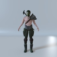 3d model fantasy male fighter