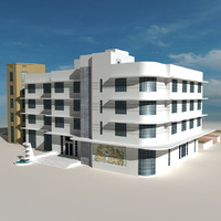 3d beach building 08 houses