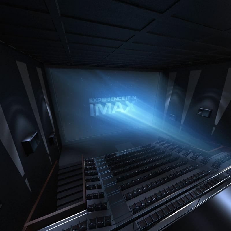 3d imax theatre interior model