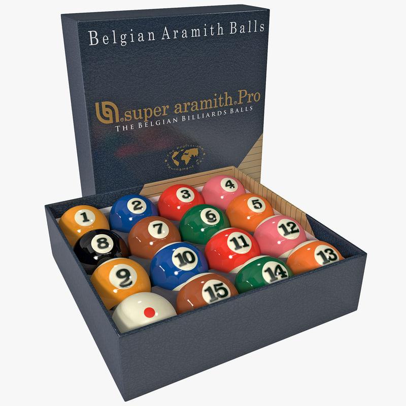 max imperial billiard ball set