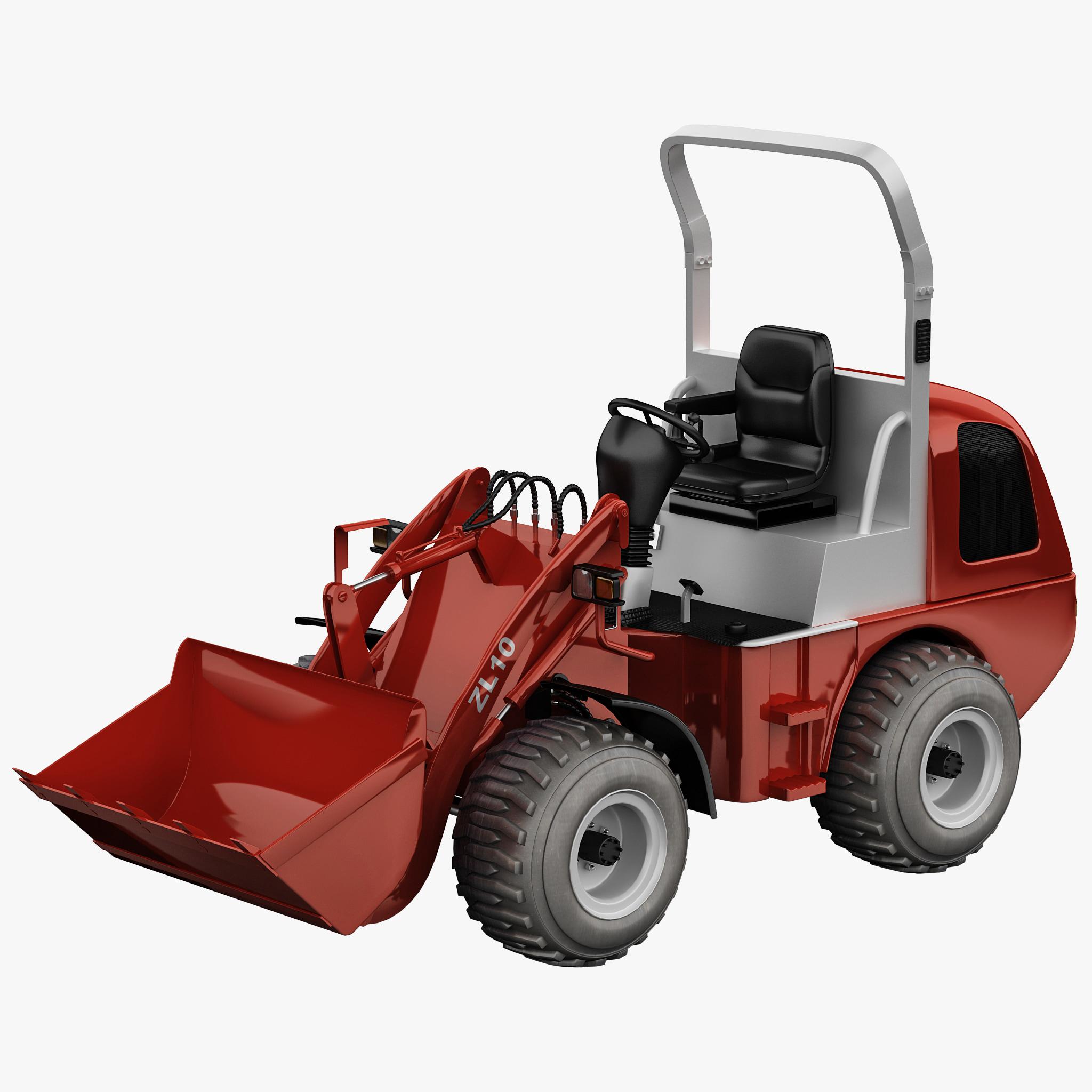 mini wheel loader zl10 3d model
