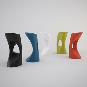 flod stool 3d max
