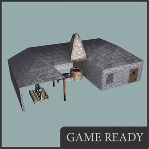 medieval blacksmith 3d max