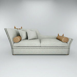 love seat wooden 3d max