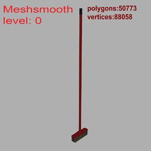 3d model broom plastic