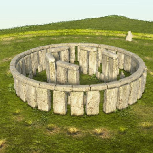 3d stonehenge stones model