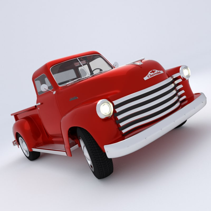 3d model of 1951 chevrolet pickup t