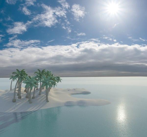 3d island skies model