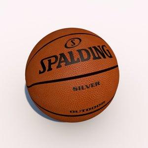 3d spalding basket ball model