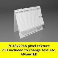 3d calender file model