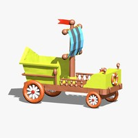 Cartoon Car Low Poly
