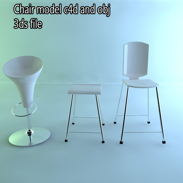 chair stool 3d obj