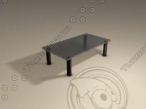 cinema4d glass table