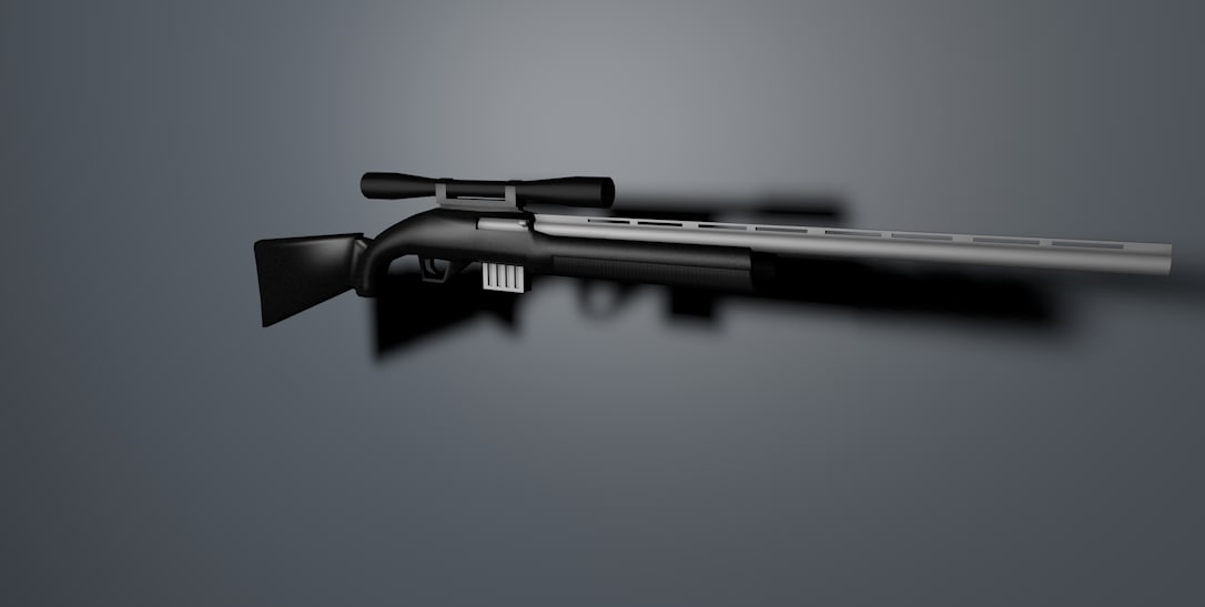 sniper rifle c4d