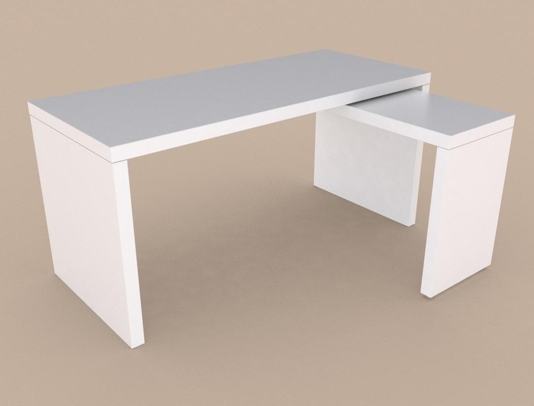 ikea malm table 3d max