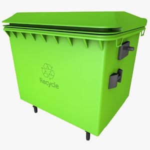 trash container dumpster obj free
