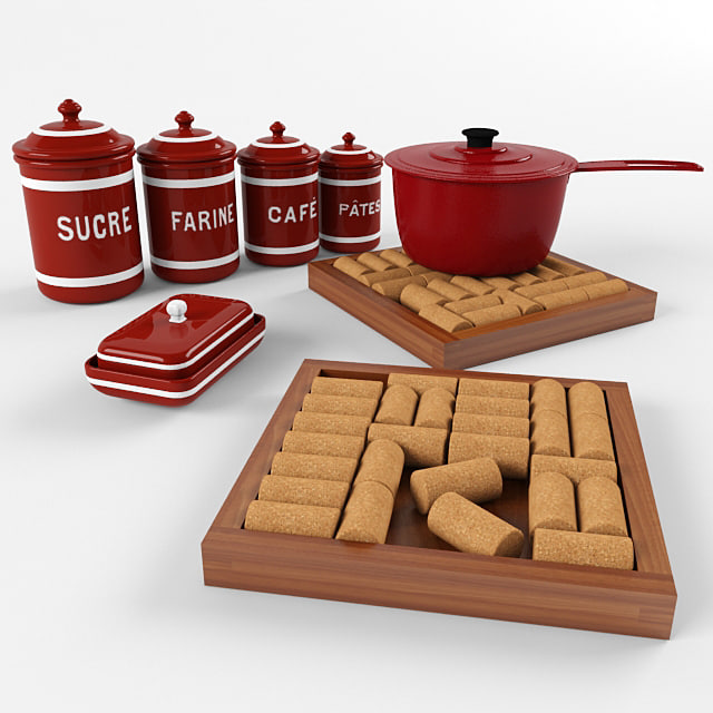 3ds max kitchenware