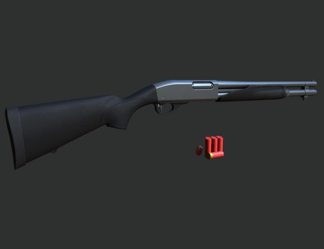 3d remington 870 model