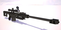 3d model rifle barrett