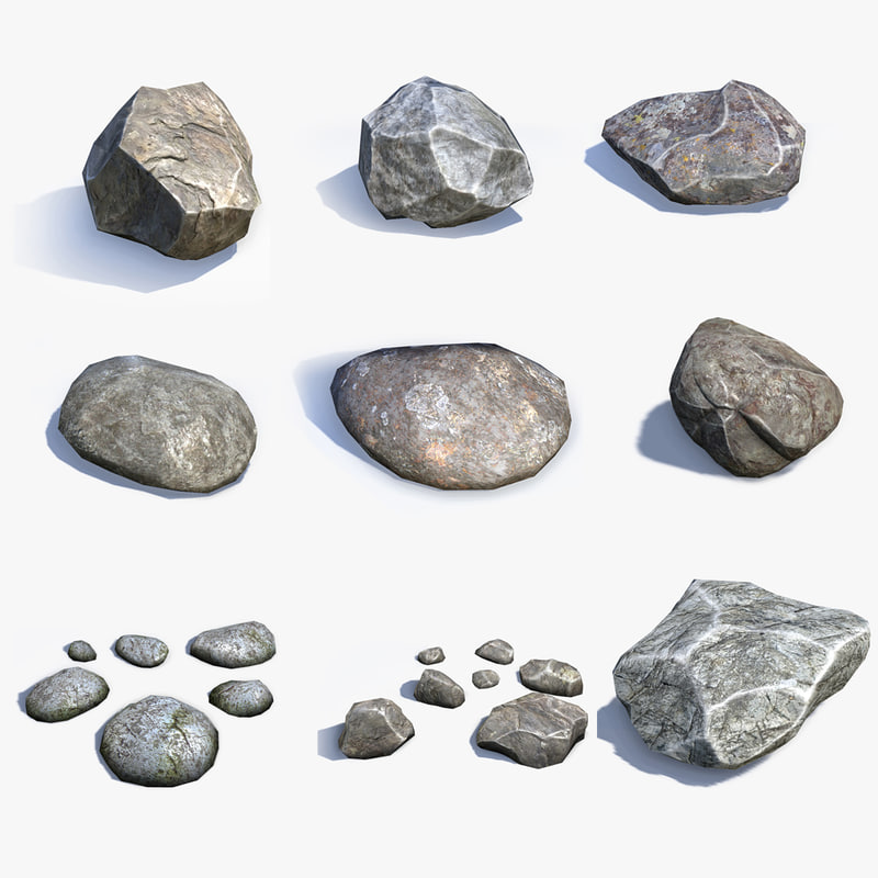 sets stones 3d model on Granite Models  id=78058