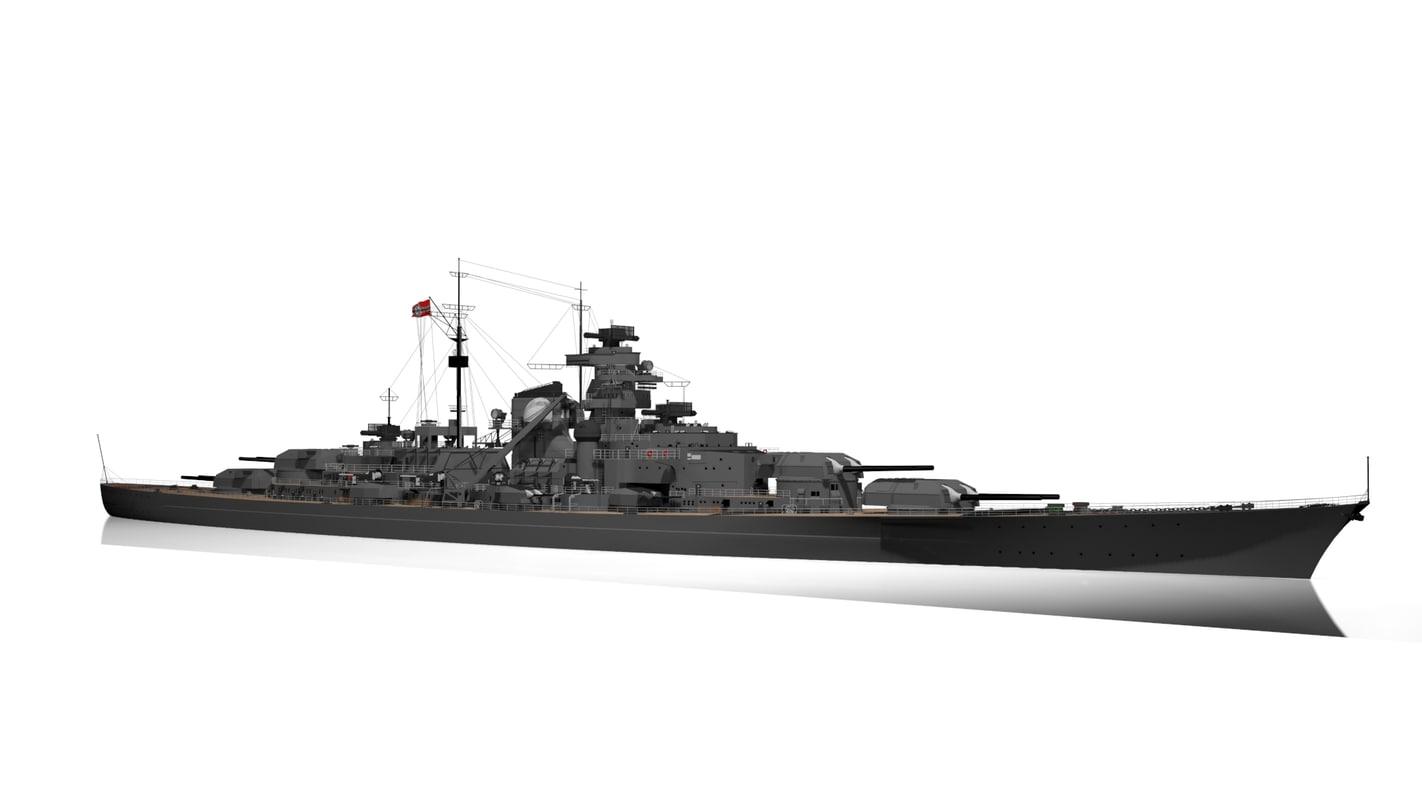 bismarck battleship max