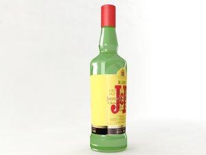 3d jb bottle model