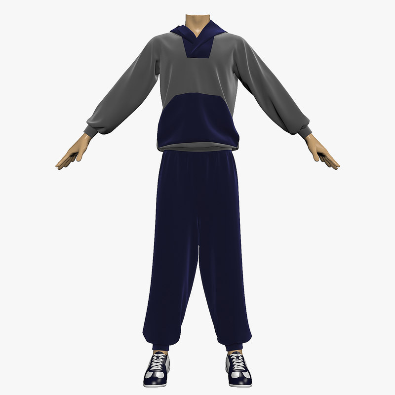 3ds max track suit