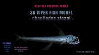 3D VIPER FISH MODEL Realistic - Chauliodus Sloani