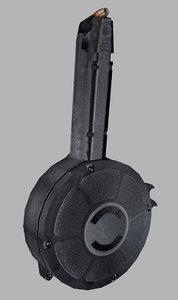 sgm glock drum magazine 3d model