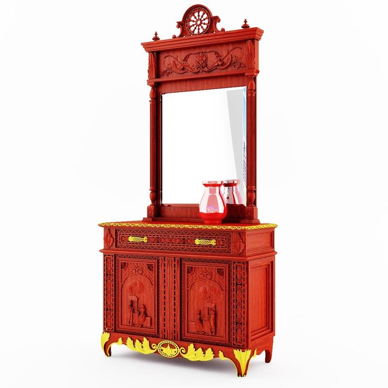 3ds max furniture classical breton