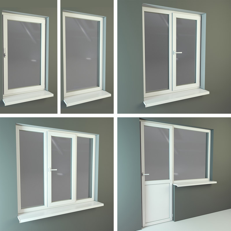 3d model plastic windows for Window 3d model