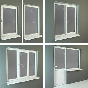 3d model plastic windows