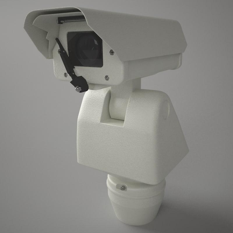 video surveillance camera wiper 3d max