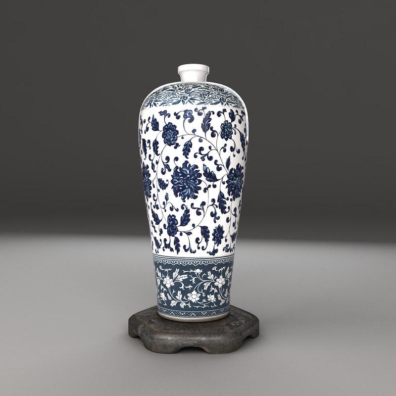 porcelain bottle 3d model