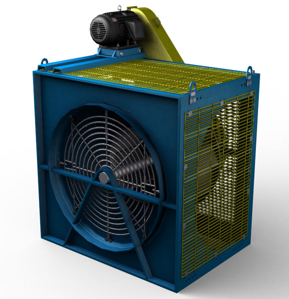 3d industrial caged fan