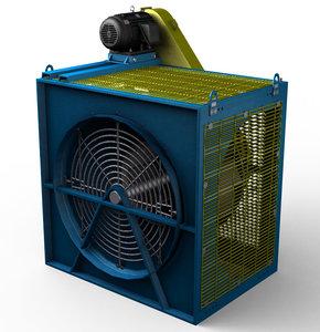 3d industrial caged fan