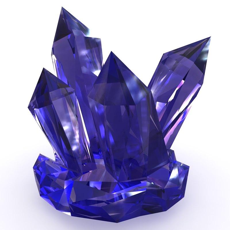 3d model realistic crystal