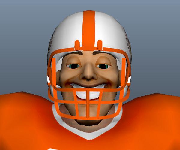 football player 3d obj