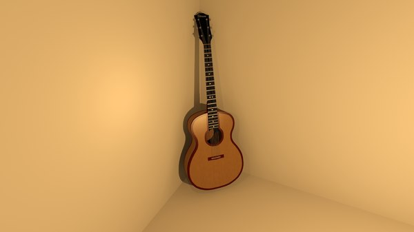 free acoustic guitar 3d model