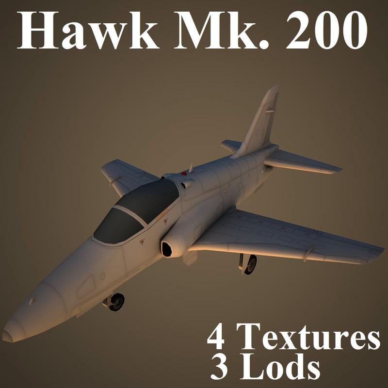 3d hawk 200 model