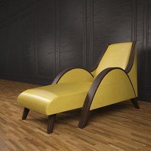 3dsmax mood chaise chair