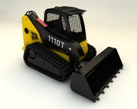 skid steer loader 3d model