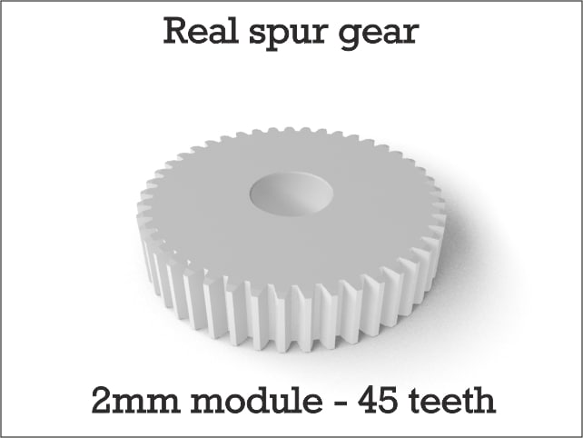 3ds max real spur gear 2mm