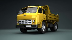 soviet maz 503b 3d model