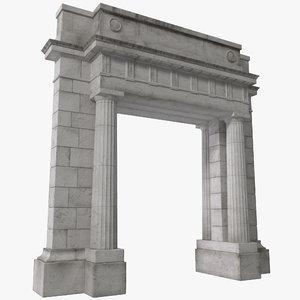 3d memorial arch design